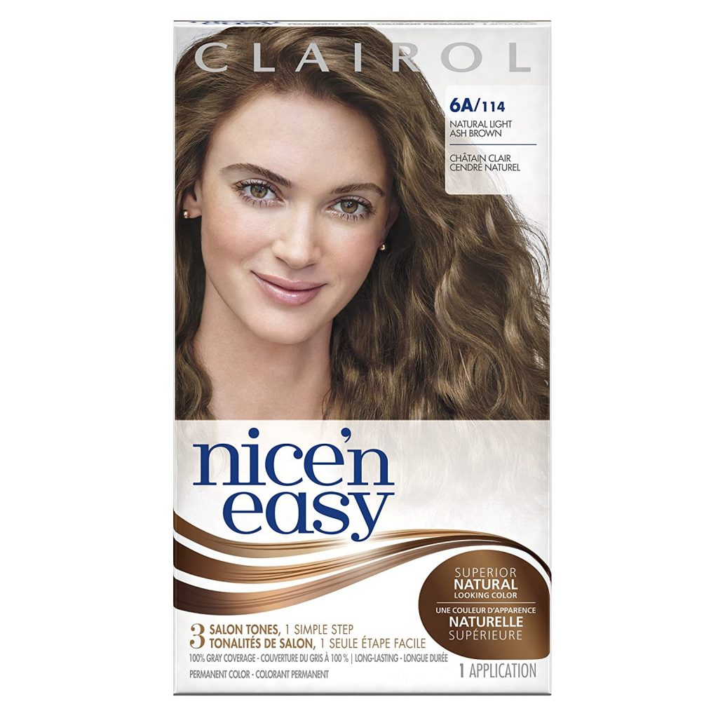 Clairol Nicen Easy Permanent Hair Color 6A Light Ash Brown