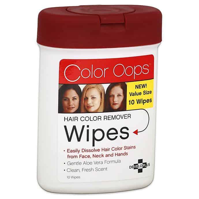 Developlus Color Oops Color Remover Wipes 10 Count