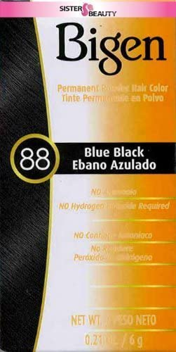 Bigen Powder Hair Color 88 Blue Black 0.21oz