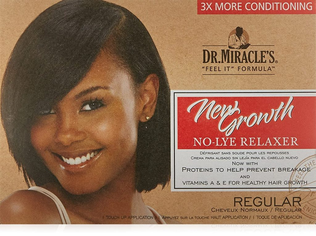 Dr. Miracle's New Growth Thermaceutical Intensive No lye Relaxer Regular Kit