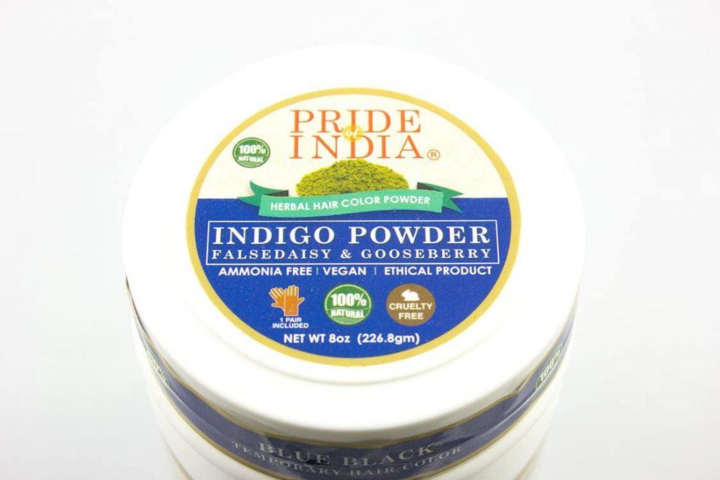 Pride Of India Indigo Hair Color Powder with Gooseberry Falsedaisy 1