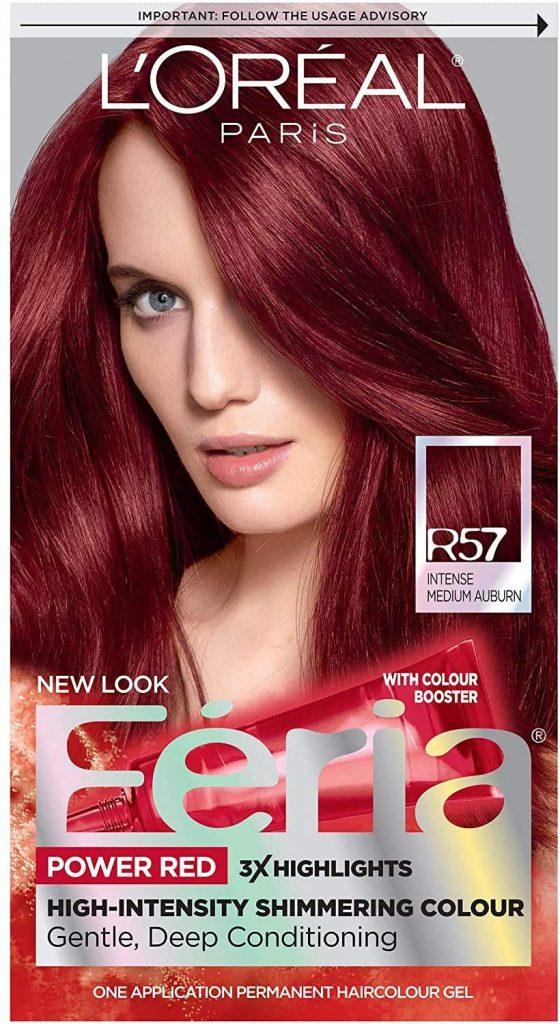 L'Oréal Paris Feria Permanent Hair Color, R57 Cherry Crush