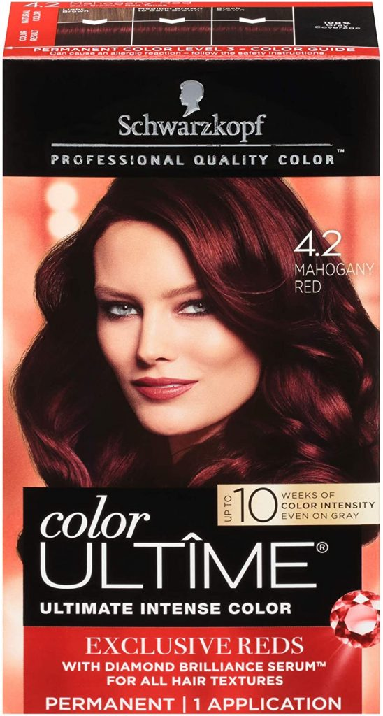 Schwarzkopf Ultime Hair Color Cream 4.2 Mahogany Red
