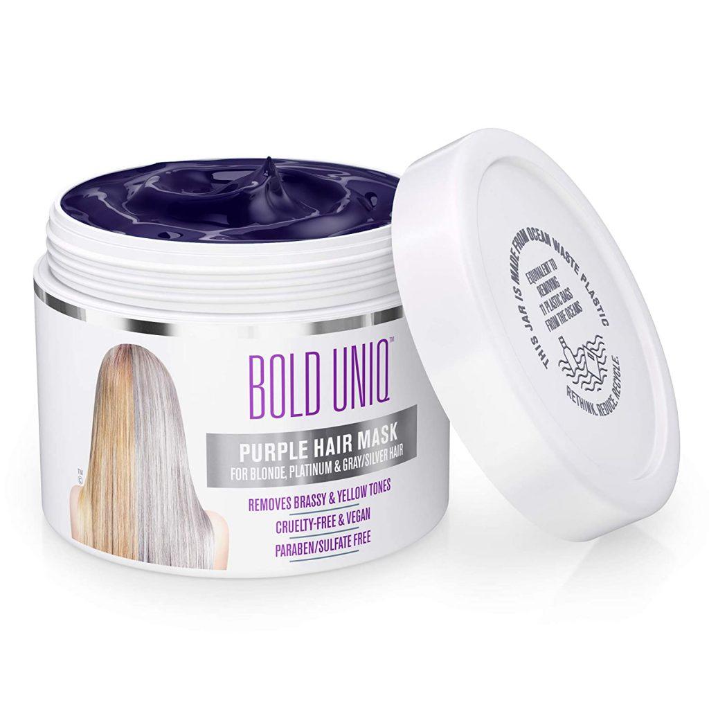 Bold Uniq Purple Hair Mask For Blonde Platinum Silver Hair