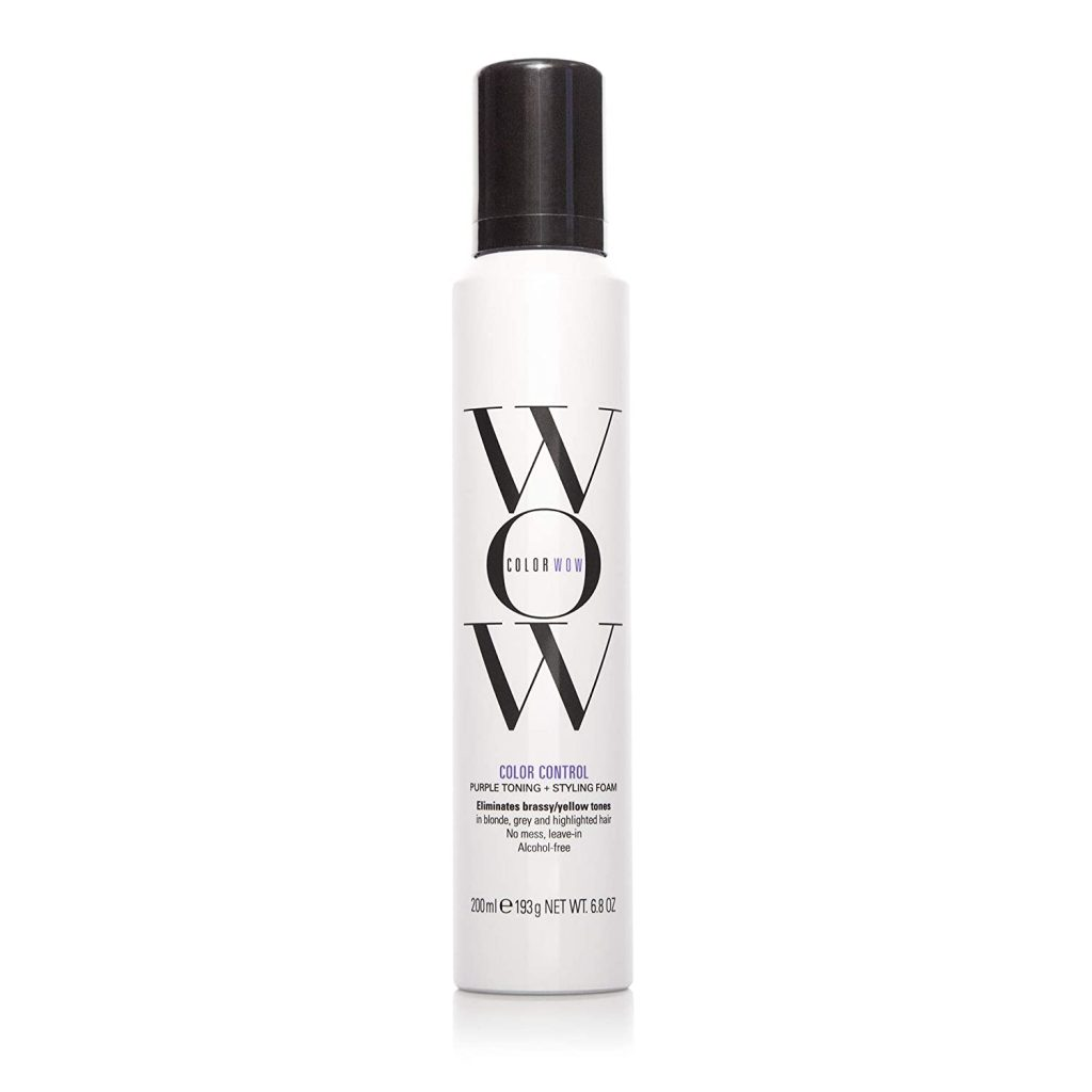 Color Wow Color Control Purple Toning Styling Foam For Blonde Hair