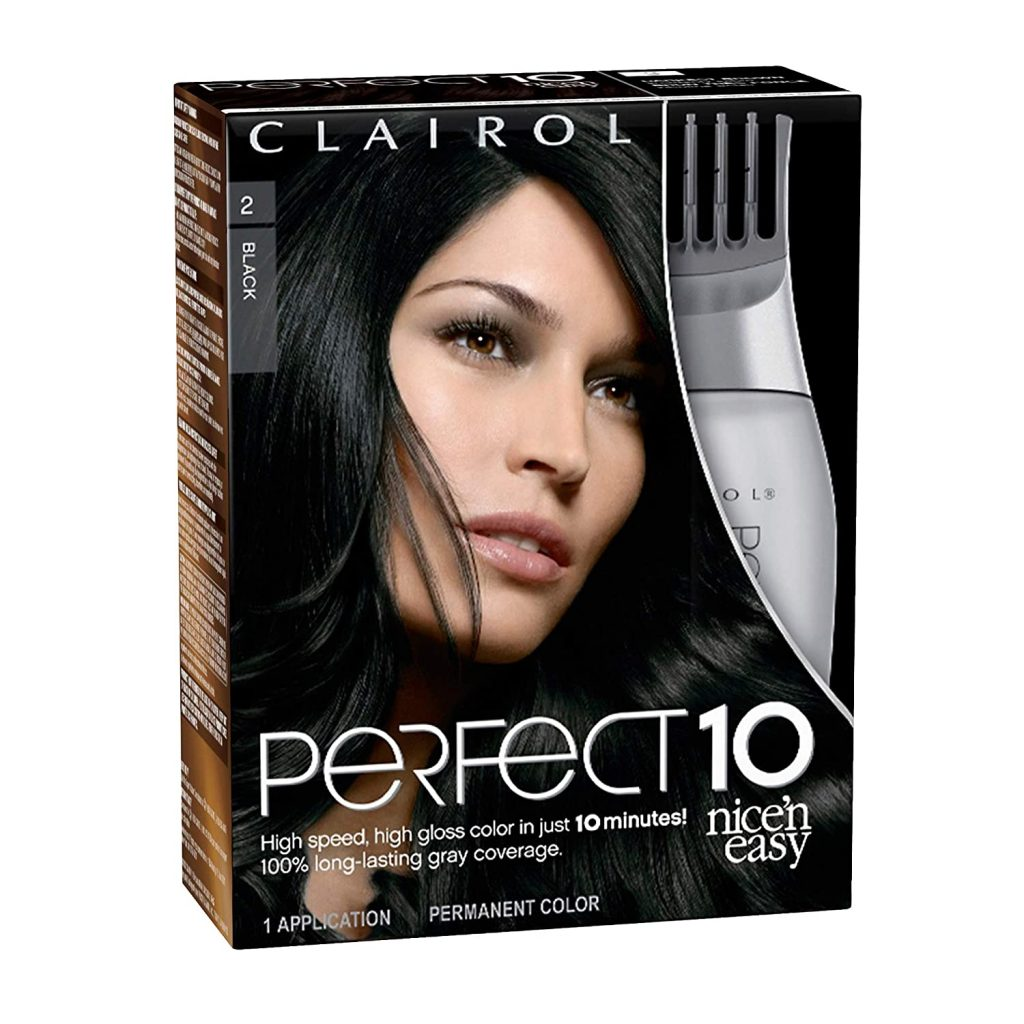 Clairol Nicen Easy Perfect 10 Permanent Hair Color 2 Black