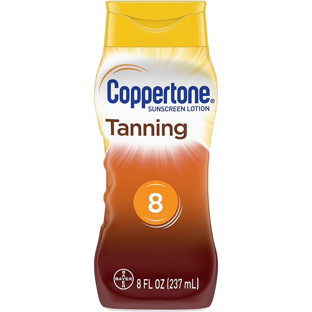 Coppertone Tanning Sunscreen Lotion Broad Spectrum SPF 8