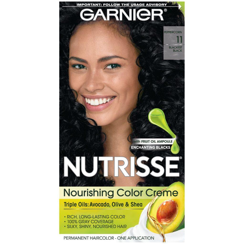 Garnier Nutrisse Nourishing Hair Color Creme 11 Blackest Black