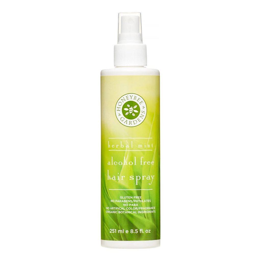 Honeybee Gardens Hair Spray Alcohol Free Herbal Mint