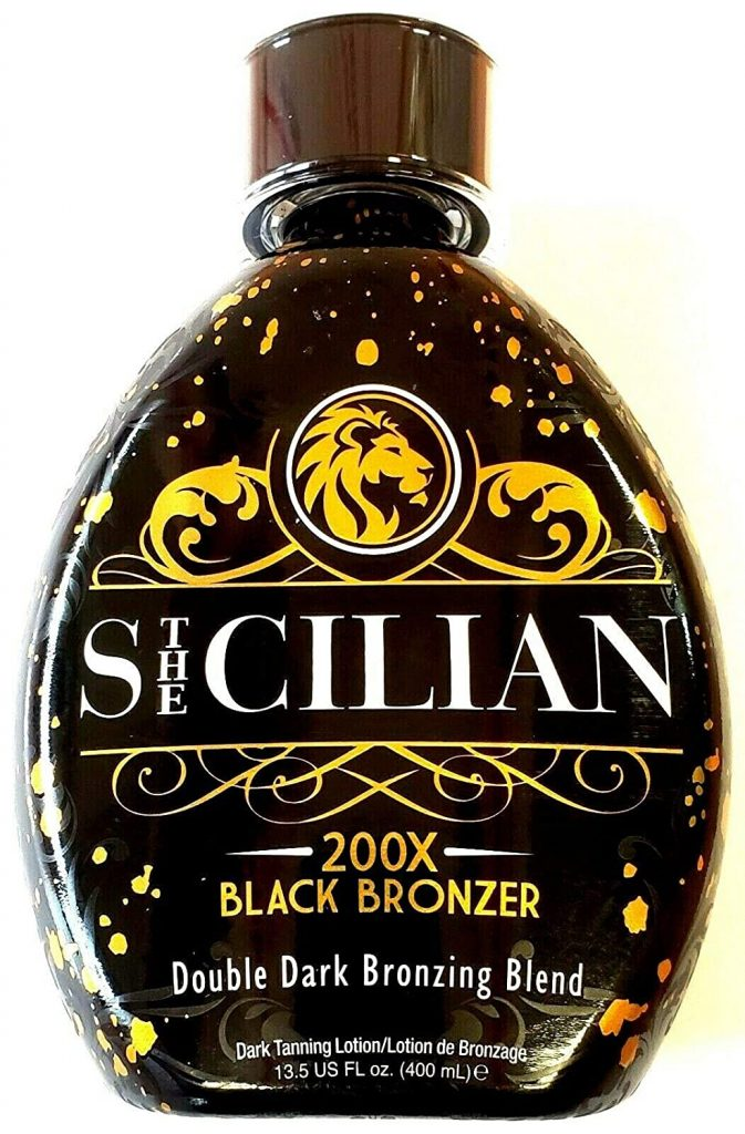 The Sicilian 200x Double Dark Black Bronzer Tanning Lotion