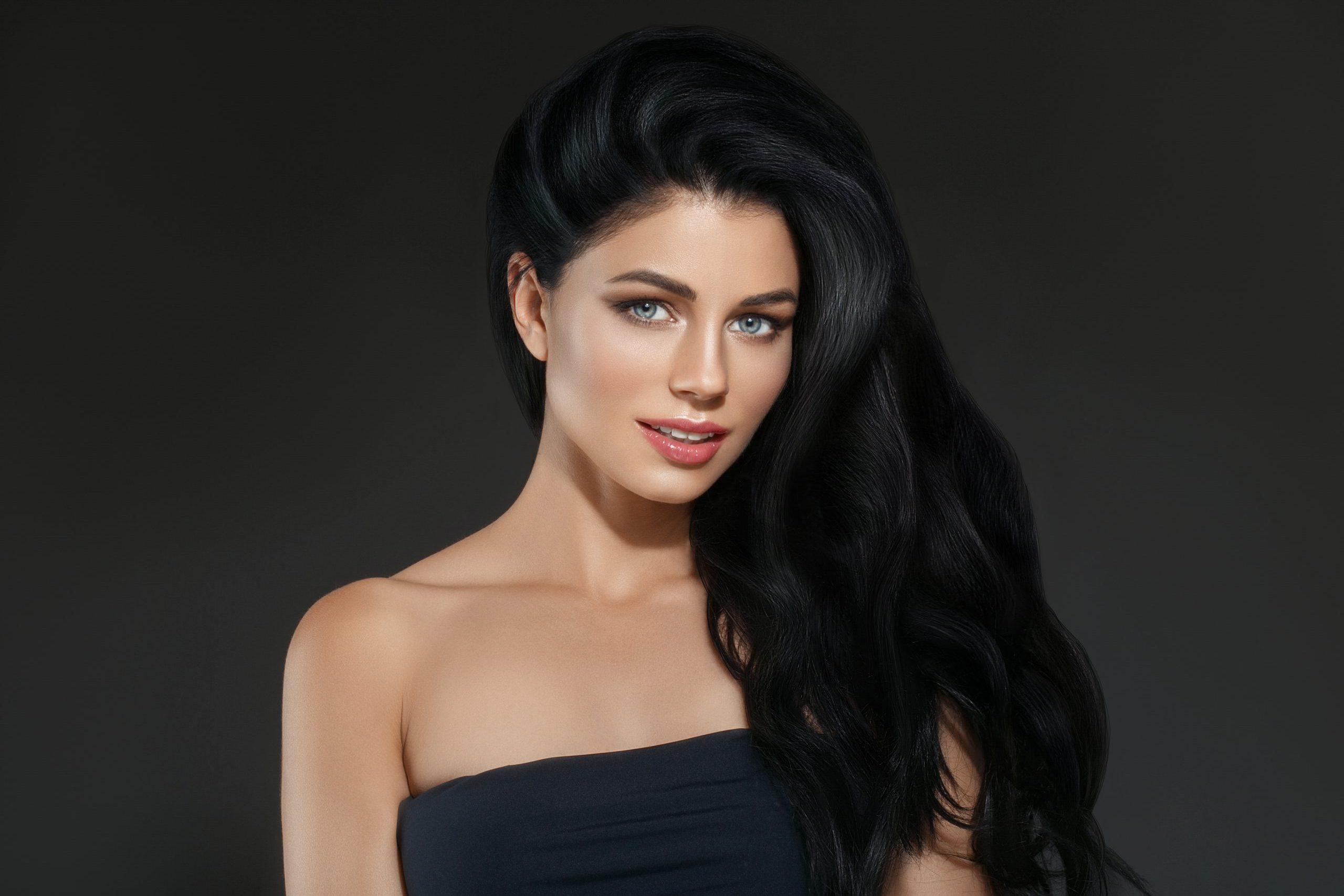 Black Hair Woman Beautiful Hairstyle Portrait